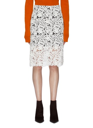 Main View - Click To Enlarge - CHLOÉ - Floral guipure lace pencil skirt