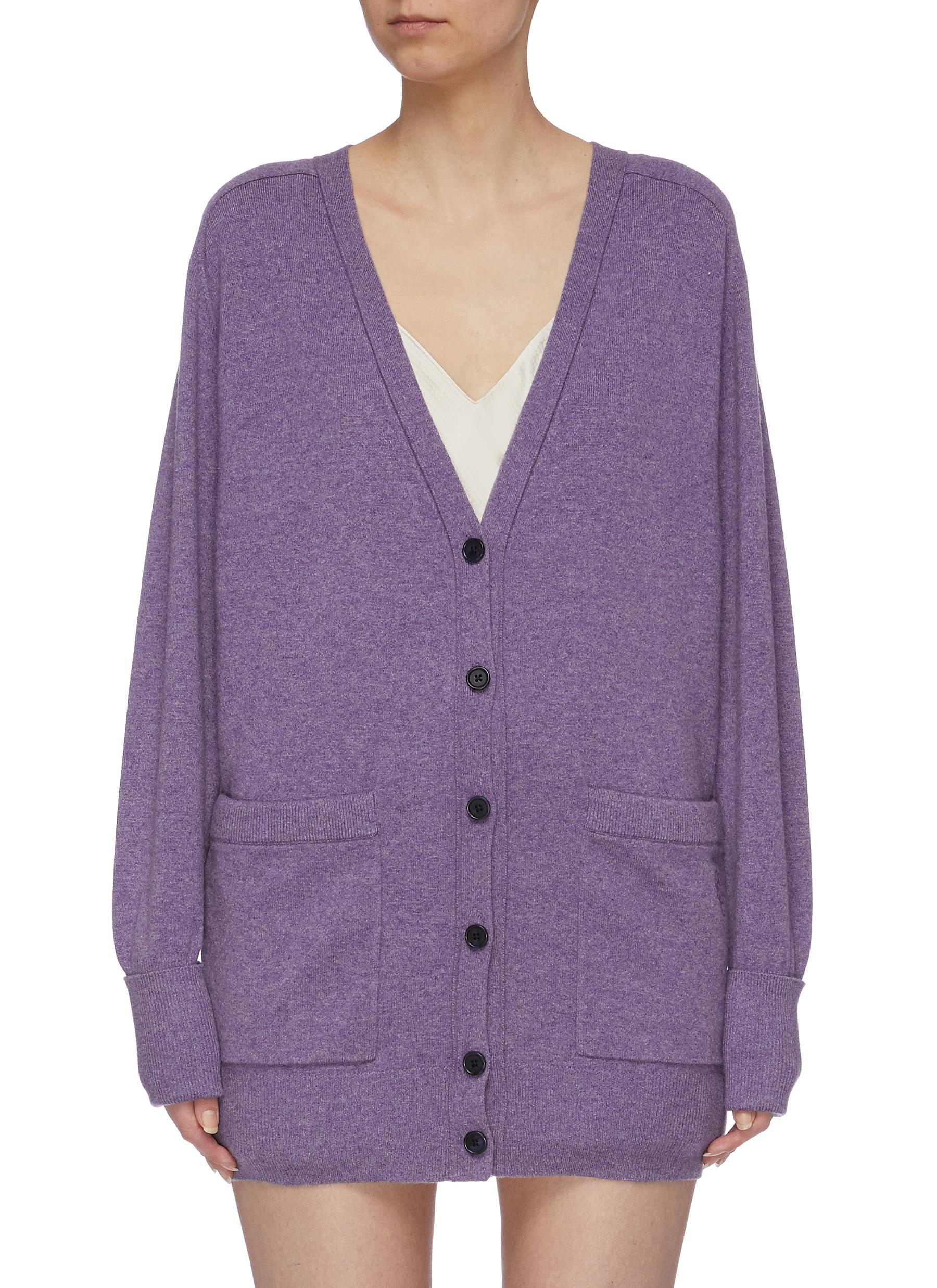 Patch pocket cashmere blend cardigan by Chloé