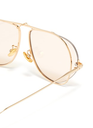 Detail View - Click To Enlarge - FIXXATIVE - 'Azulejo' floating lenses metal aviator sunglasses