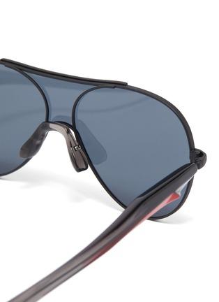 Detail View - Click To Enlarge - FIXXATIVE - 'Arete' acetate temple metal aviator sunglasses