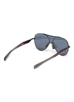 Figure View - Click To Enlarge - FIXXATIVE - 'Arete' acetate temple metal aviator sunglasses
