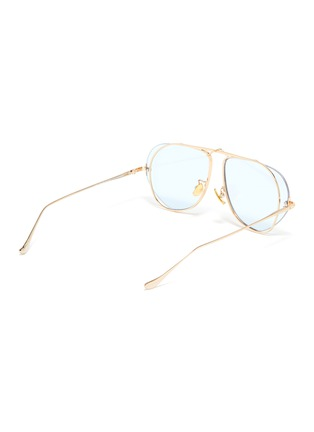 Figure View - Click To Enlarge - FIXXATIVE - 'Azulejo' floating lenses metal aviator sunglasses