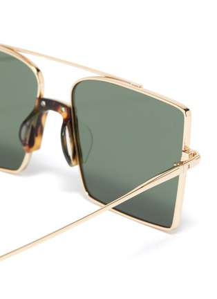 Detail View - Click To Enlarge - FIXXATIVE - 'Belem' metal oversized square aviator sunglasses