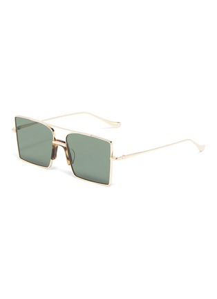 Main View - Click To Enlarge - FIXXATIVE - 'Belem' metal oversized square aviator sunglasses
