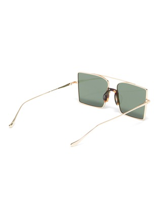 Figure View - Click To Enlarge - FIXXATIVE - 'Belem' metal oversized square aviator sunglasses