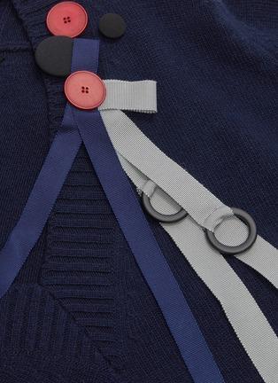 - LOEWE - Ribbon drape button sweater