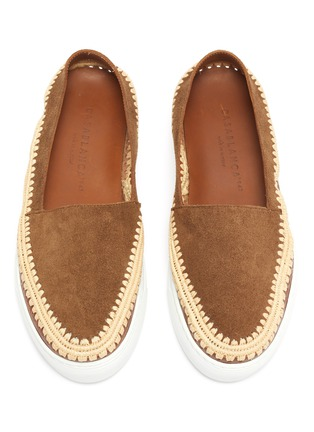 Detail View - Click To Enlarge - CASABLANCA1942 - 'Manu' raffia trim skate slip-ons