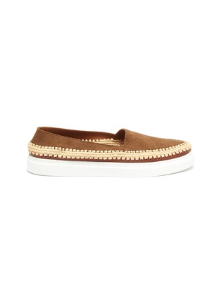 Main View - Click To Enlarge - CASABLANCA1942 - 'Manu' raffia trim skate slip-ons