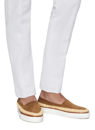 Figure View - Click To Enlarge - CASABLANCA1942 - 'Manu' raffia trim skate slip-ons