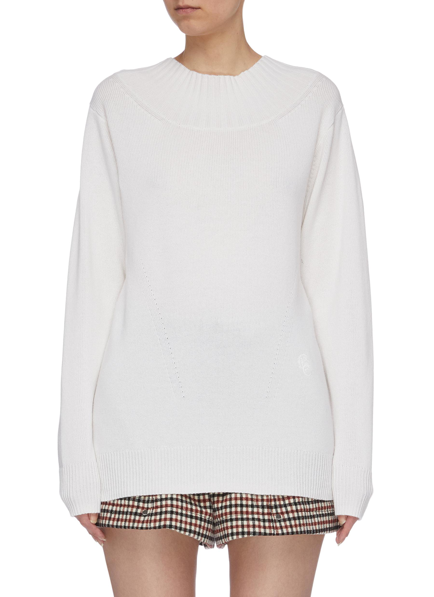 Tie open back cashmere sweater by Chloé