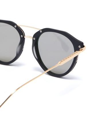 Detail View - Click To Enlarge - PEPPERTINT - 'Inglewood' acetate rim mirror metal round aviator sunglasses