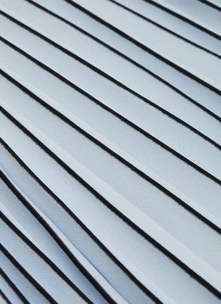 - PROENZA SCHOULER - Stripe symmetric pleated midi skirt