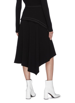 Back View - Click To Enlarge - PROENZA SCHOULER - Asymmetric panelled pleated midi skirt