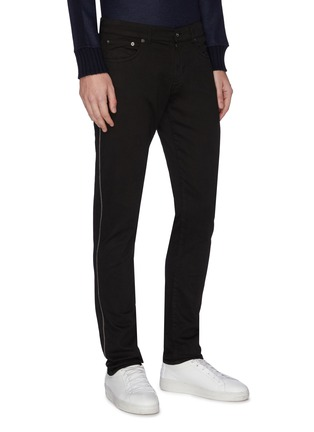 Front View - Click To Enlarge - EIDOS - Chain outseam jeans