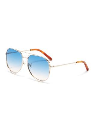 Main View - Click To Enlarge - MATTHEW WILLIAMSON - Cutout metal aviator sunglasses