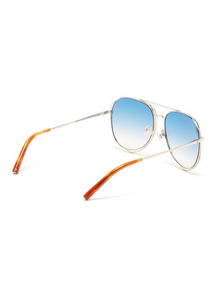 Figure View - Click To Enlarge - MATTHEW WILLIAMSON - Cutout metal aviator sunglasses