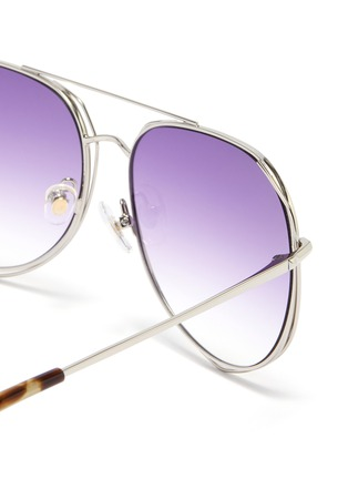 Detail View - Click To Enlarge - MATTHEW WILLIAMSON - Cutout metal aviator sunglasses