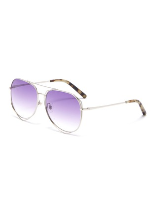 Main View - Click To Enlarge - MATTHEW WILLIAMSON - Cutout metal aviator sunglasses