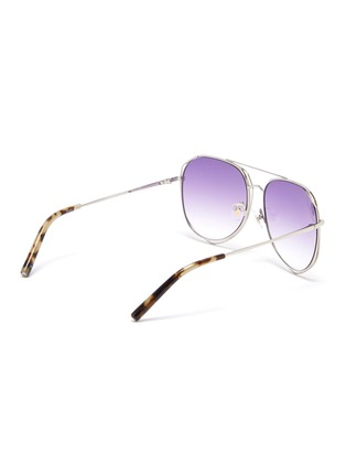 Figure View - Click To Enlarge - MATTHEW WILLIAMSON - Cutout metal aviator sunglasses