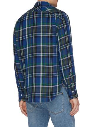 Back View - Click To Enlarge - RAG & BONE - 'Fit 3 Beach' tartan plaid twill shirt
