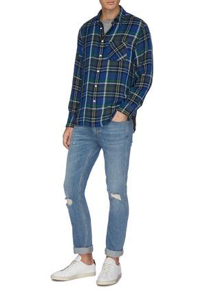Figure View - Click To Enlarge - RAG & BONE - 'Fit 3 Beach' tartan plaid twill shirt