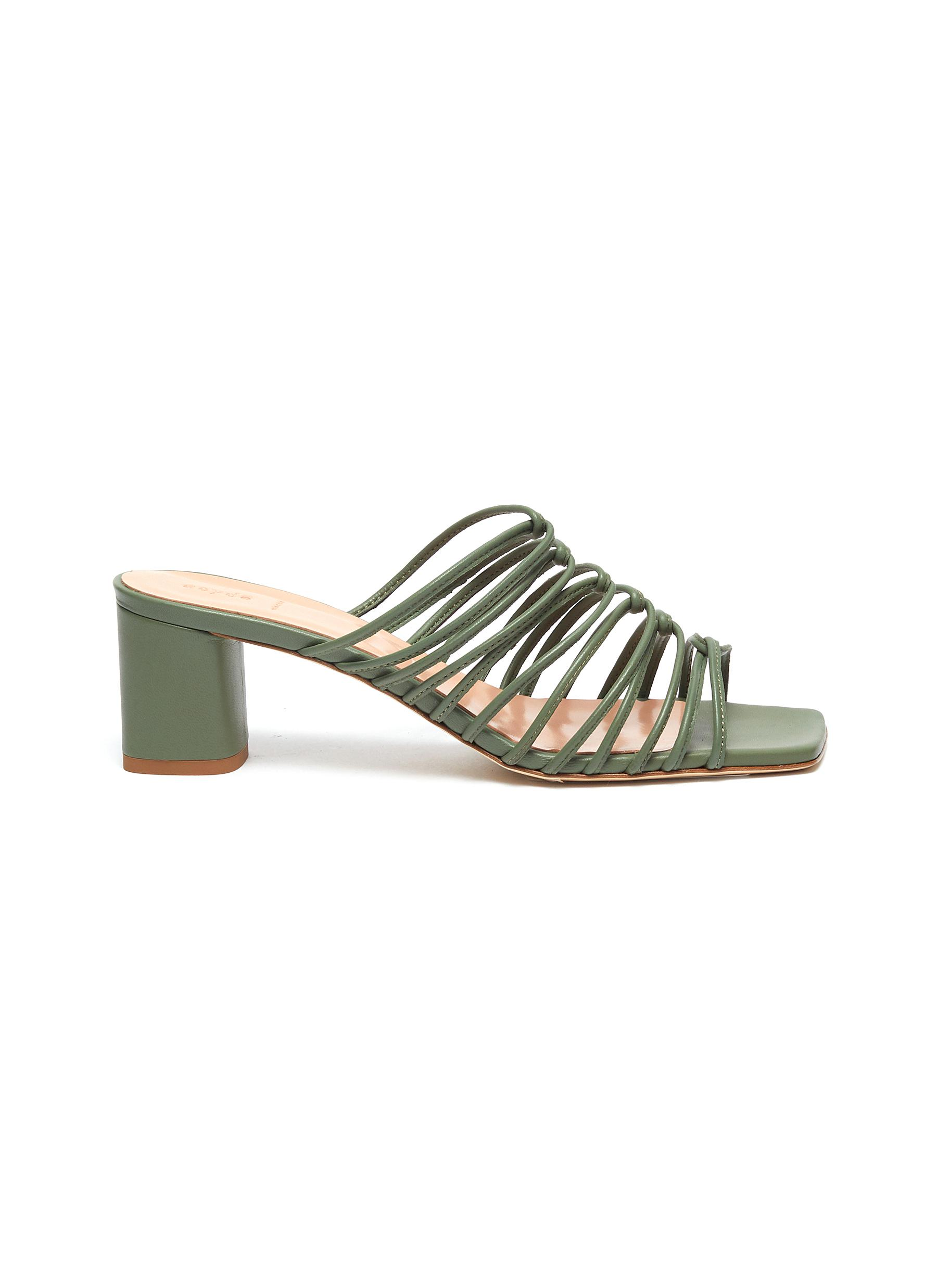 Pearl strappy leather sandals by Aeyde