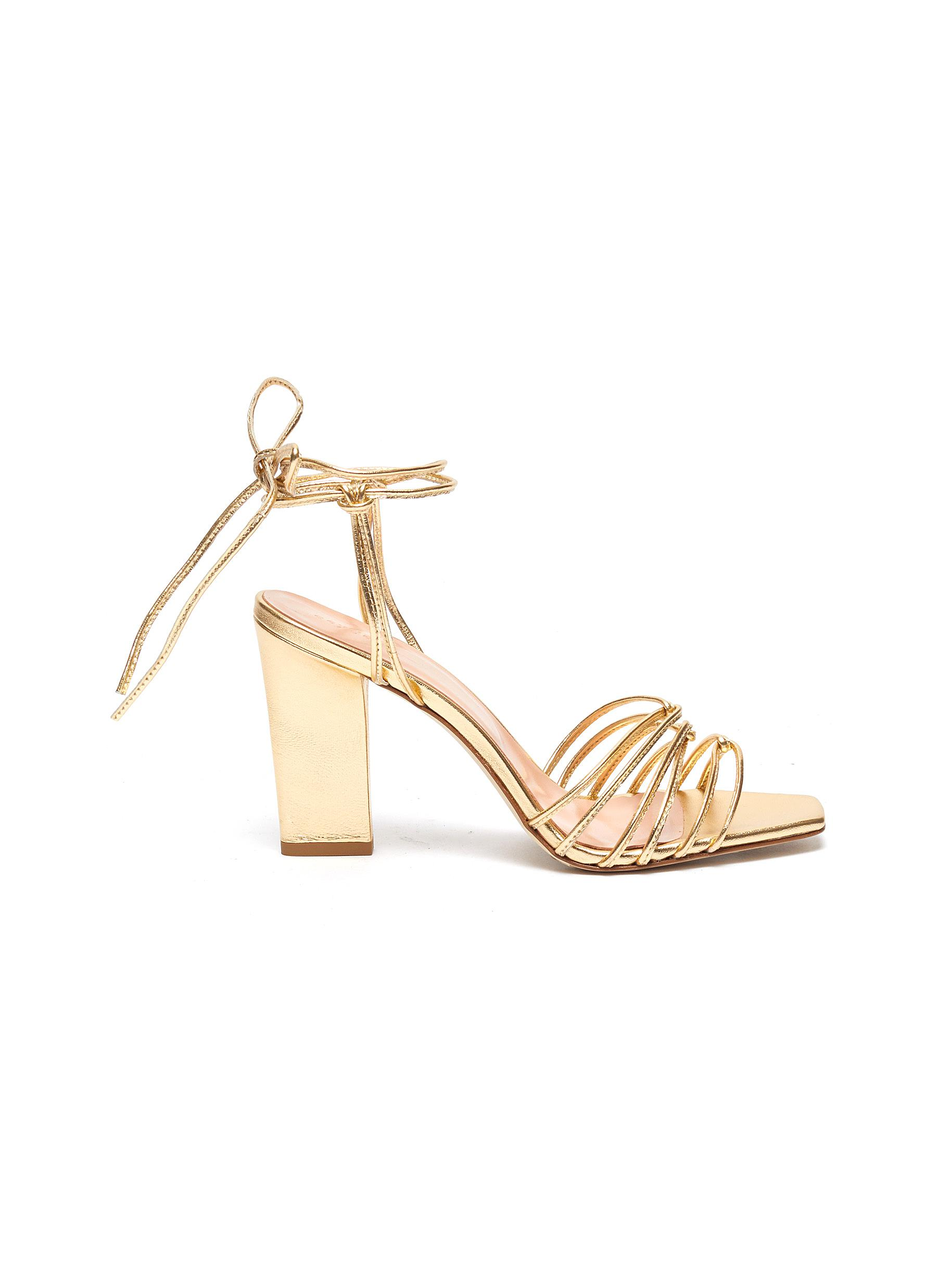 Daisy strappy metallic leather sandals by Aeyde