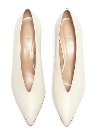 Detail View - Click To Enlarge - AEYDE - 'Camilla' choked-up leather pumps