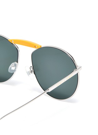 Detail View - Click To Enlarge - FENDI - x Gentle Monster 'GENTLE FENDI 02' acetate bridge metal round sunglasses