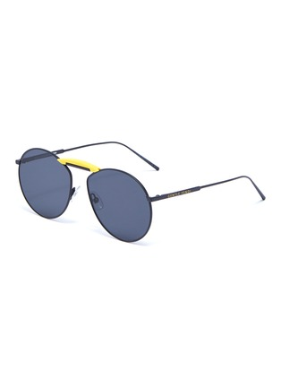 Main View - Click To Enlarge - FENDI - x Gentle Monster 'GENTLE FENDI 02' acetate bridge metal round sunglasses