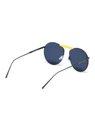 Figure View - Click To Enlarge - FENDI - x Gentle Monster 'GENTLE FENDI 02' acetate bridge metal round sunglasses
