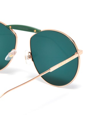 Detail View - Click To Enlarge - FENDI - x Gentle Monster 'GENTLE FENDI 02' acetate bridge metal round sunglasses
