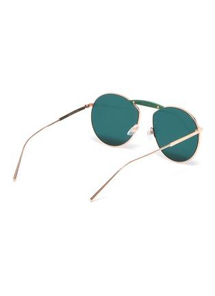 Figure View - Click To Enlarge - FENDI - x Gentle Monster 'GENTLE FENDI 02' acetate bridge metal round sunglasses