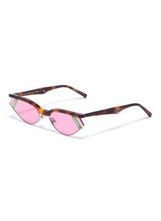 Main View - Click To Enlarge - FENDI - x Gentle Monster 'GENTLE FENDI 01' cutout corner acetate cat eye sunglasses
