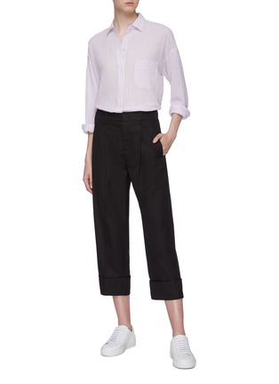 Figure View - Click To Enlarge - VINCE - Stripe boxy shirt