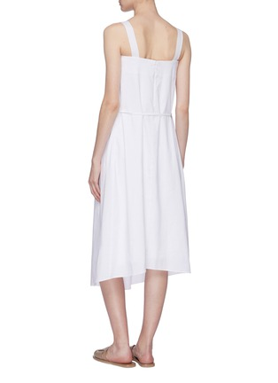 Back View - Click To Enlarge - VINCE - Tie sleeveless midi dress