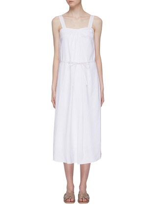 Main View - Click To Enlarge - VINCE - Tie sleeveless midi dress