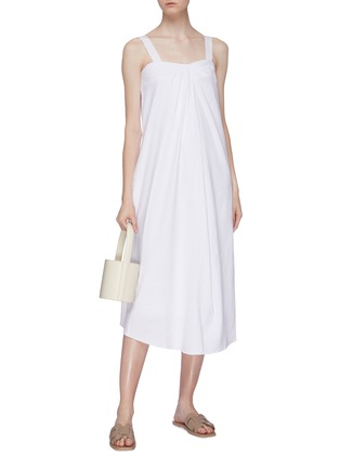 Figure View - Click To Enlarge - VINCE - Tie sleeveless midi dress