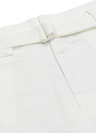 - VINCE - Belted oversized cotton-linen shorts