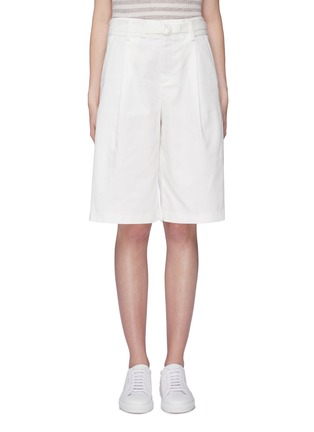 Main View - Click To Enlarge - VINCE - Belted oversized cotton-linen shorts