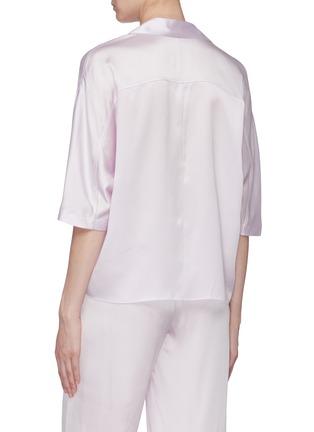 Back View - Click To Enlarge - VINCE - Silk satin pyjama shirt