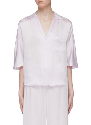 Main View - Click To Enlarge - VINCE - Silk satin pyjama shirt