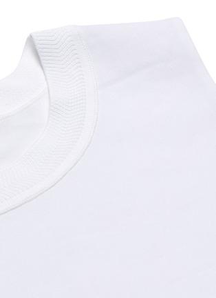 - VINCE - Ribbed crew neck poplin sleeveless top
