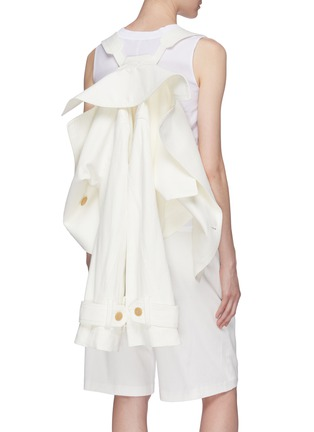 Detail View - Click To Enlarge - VINCE - Belted cropped linen-cotton boxy jacket