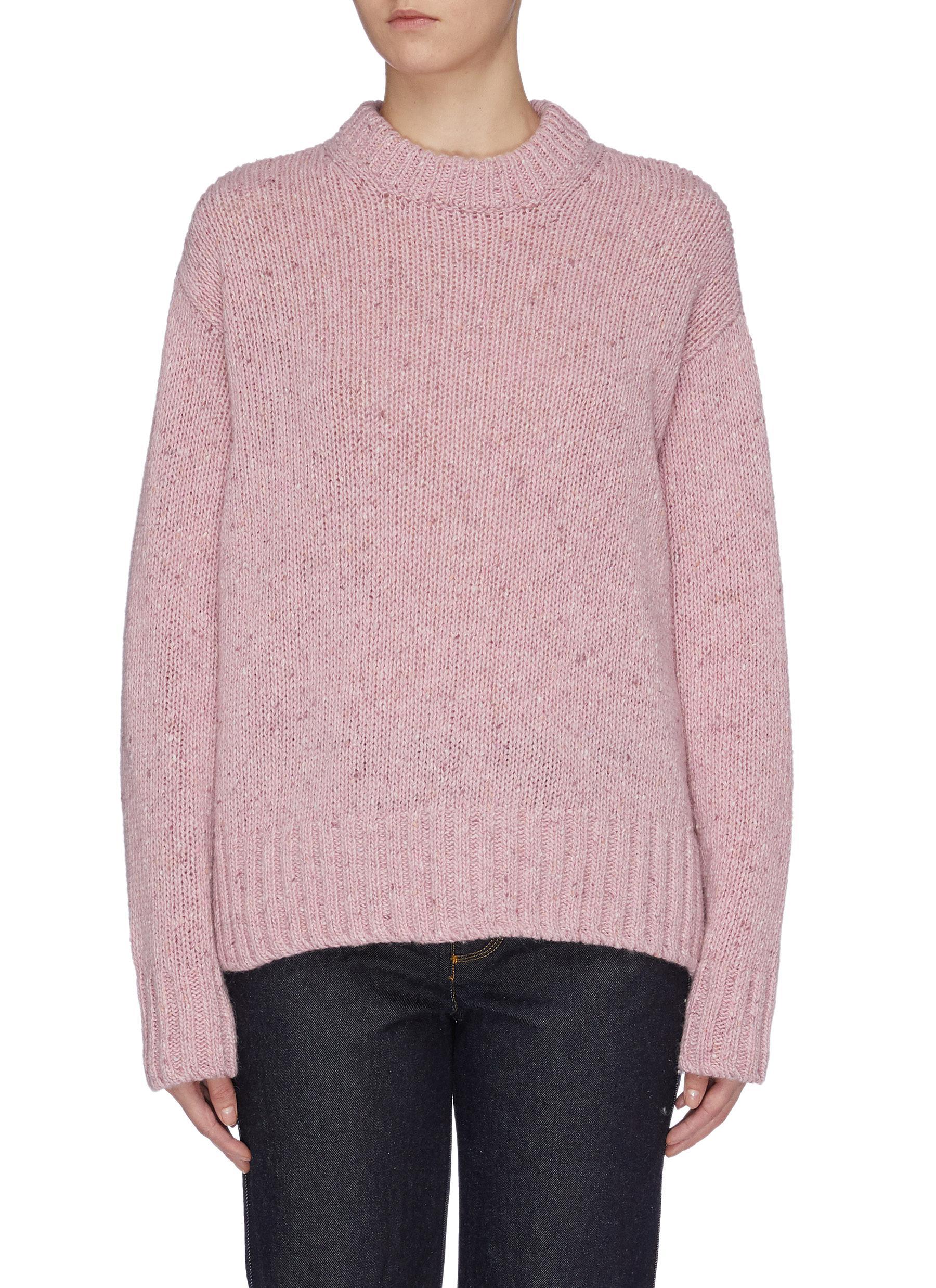 Tweed Knit Merino wool sweater by Joseph