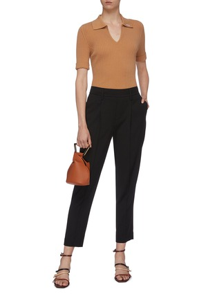 Figure View - Click To Enlarge - VINCE - Tapered crepe pants