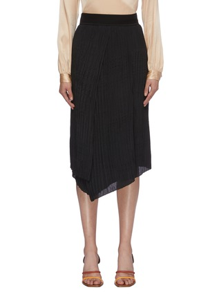 Main View - Click To Enlarge - VINCE - Crinkled pleated asymmetric skirt