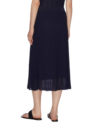 Back View - Click To Enlarge - VINCE - Textured sheer knit ruffle skirt