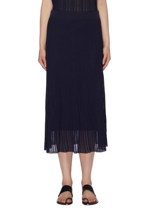 Main View - Click To Enlarge - VINCE - Textured sheer knit ruffle skirt