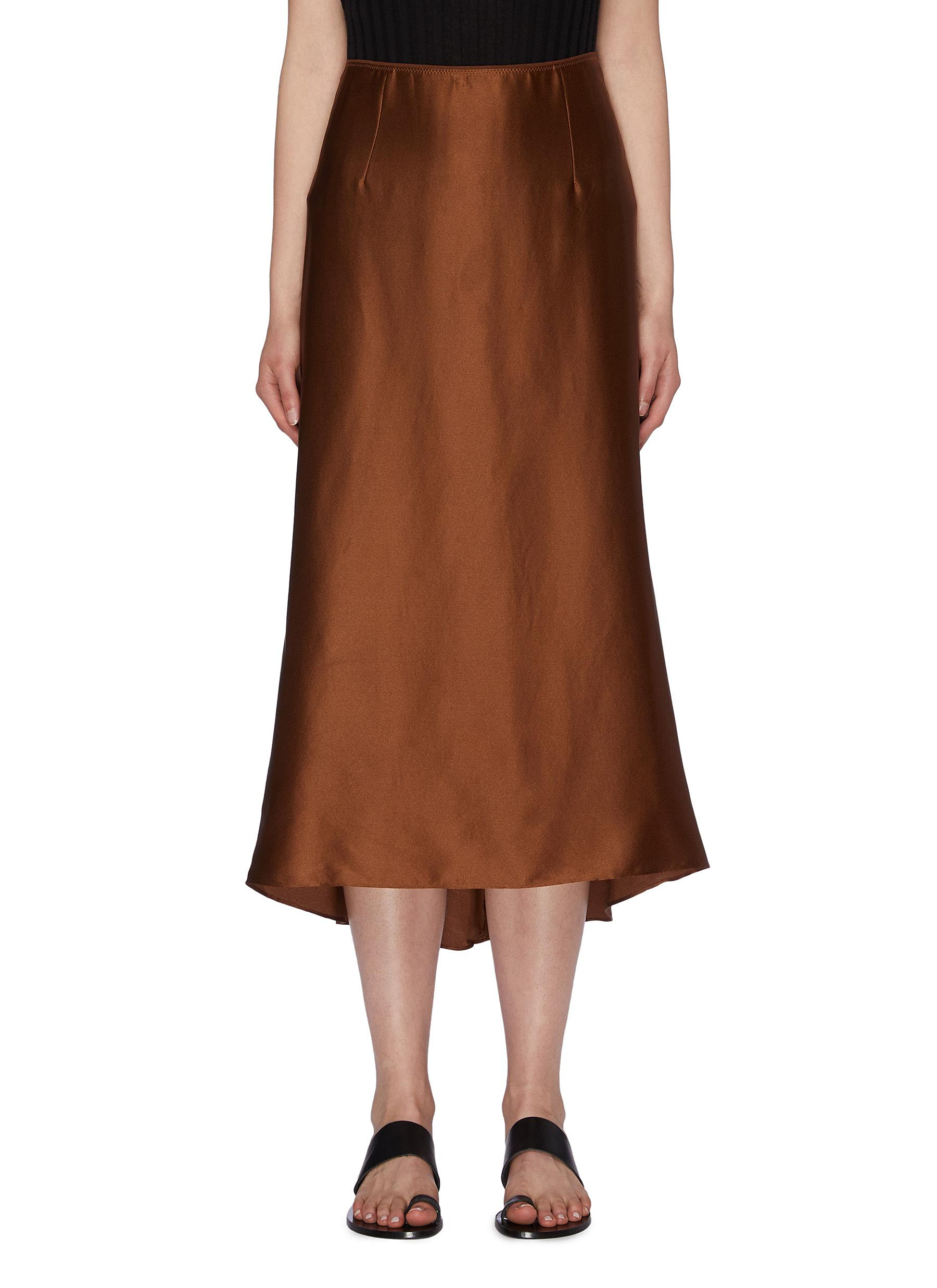 9ad6e353ac Main View - Click To Enlarge - VINCE - Silk satin midi skirt
